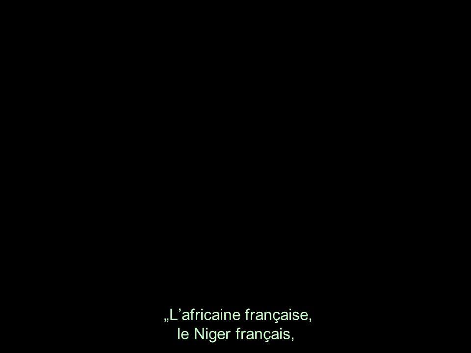 Lafricaine française, le Niger français,