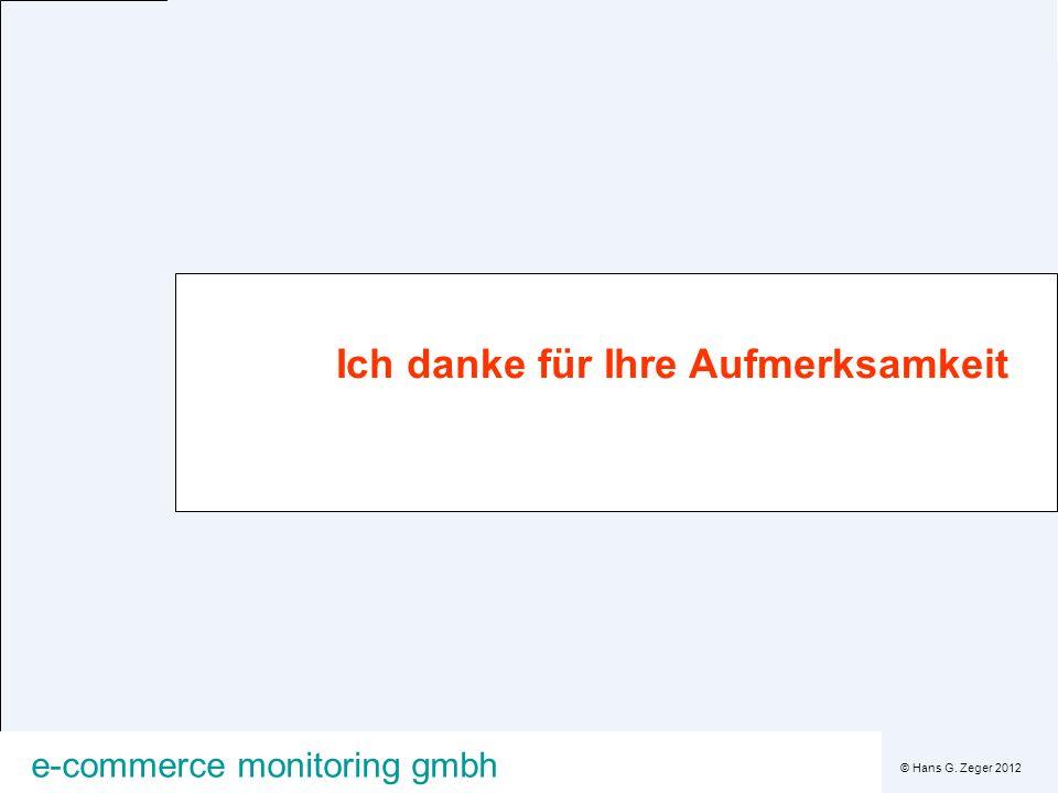 © Hans G. Zeger 2012 e-commerce monitoring gmbh Ich danke für Ihre Aufmerksamkeit