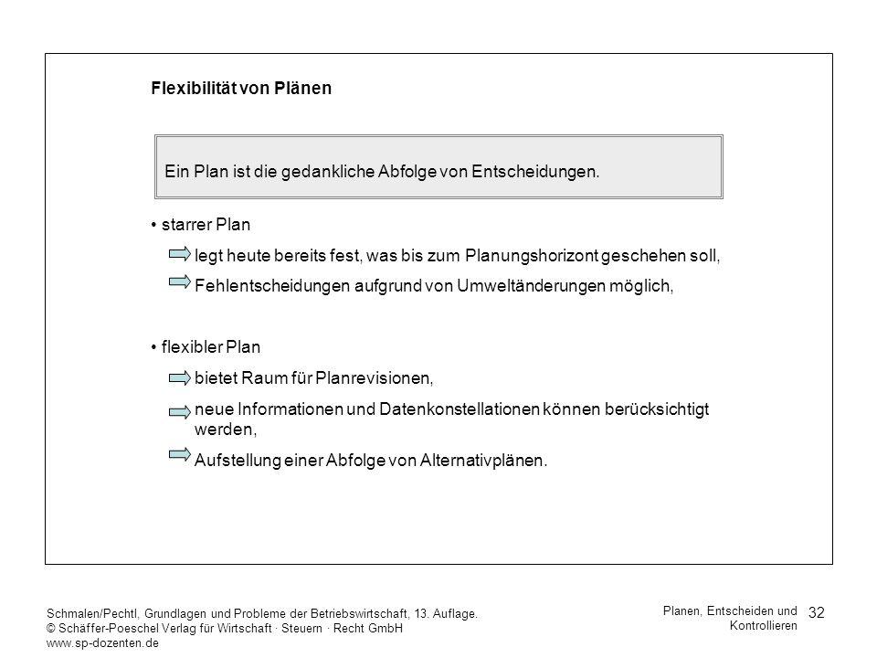 32 Schmalen/Pechtl, Grundlagen und Probleme der Betriebswirtschaft, 13. Auflage. © Schäffer-Poeschel Verlag für Wirtschaft Steuern Recht GmbH www.sp-d