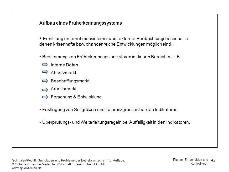 42 Schmalen/Pechtl, Grundlagen und Probleme der Betriebswirtschaft, 13. Auflage. © Schäffer-Poeschel Verlag für Wirtschaft Steuern Recht GmbH www.sp-d