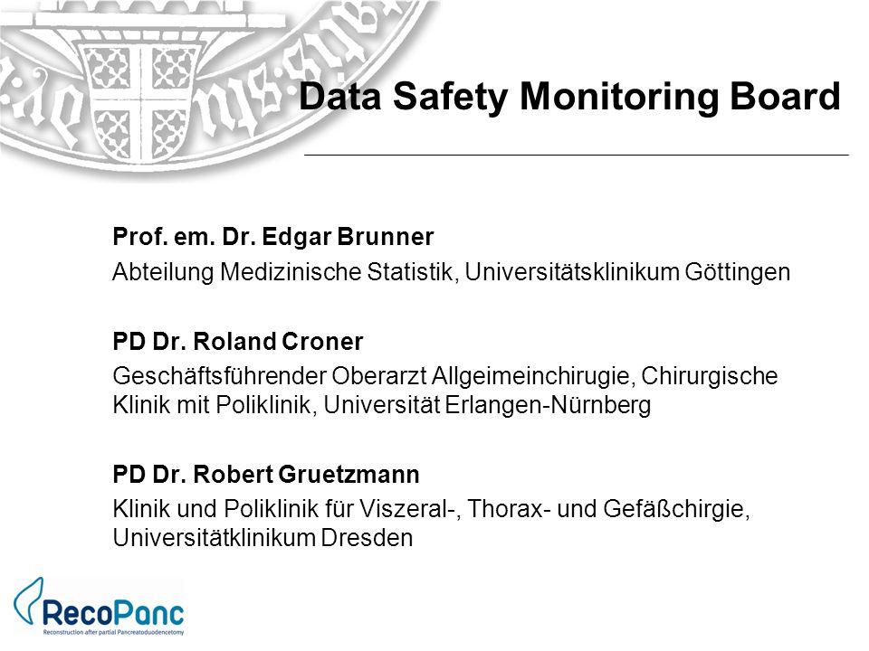 Prof. em. Dr. Edgar Brunner Abteilung Medizinische Statistik, Universitätsklinikum Göttingen PD Dr. Roland Croner Geschäftsführender Oberarzt Allgeime