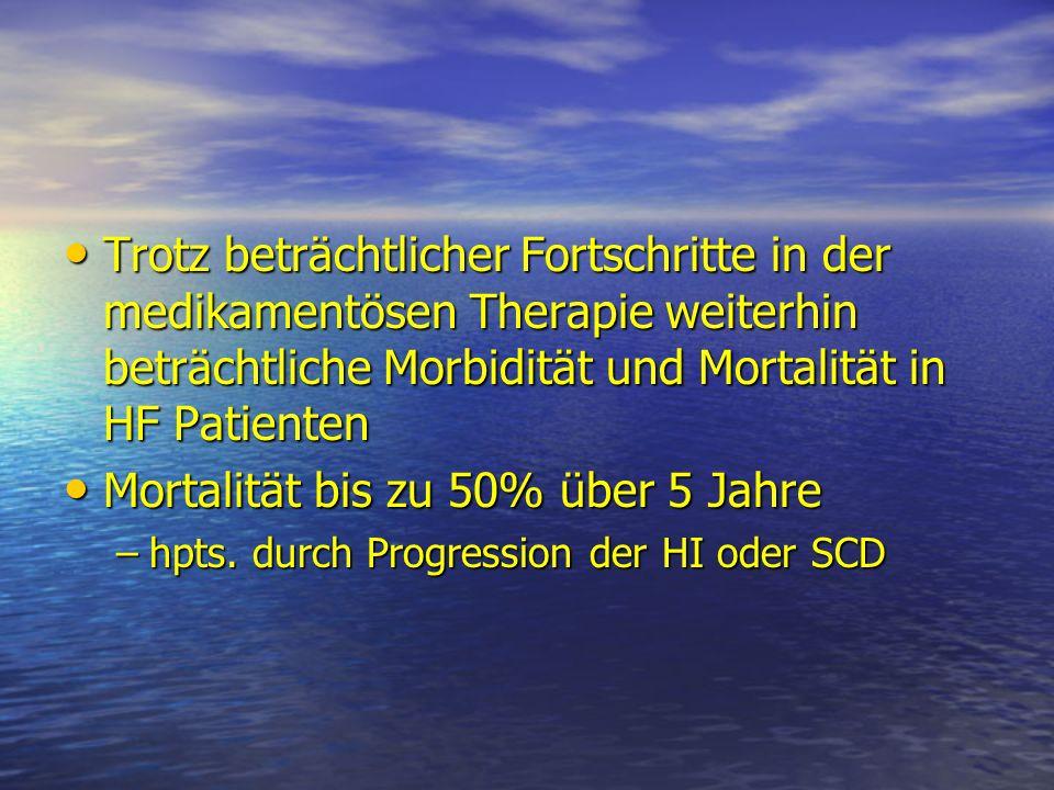 Ziele Kardiovaskuläre Funktion Kardiovaskuläre Funktion Symptome Symptome Morbidität/Mortalität Morbidität/Mortalität
