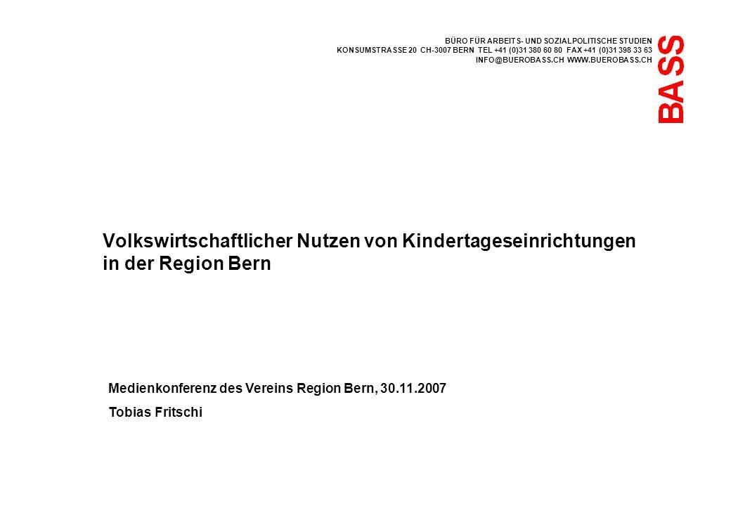 BÜRO FÜR ARBEITS- UND SOZIALPOLITISCHE STUDIEN KONSUMSTRASSE 20 CH-3007 BERN TEL +41 (0)31 380 60 80 FAX +41 (0)31 398 33 63 INFO@BUEROBASS.CH WWW.BUE