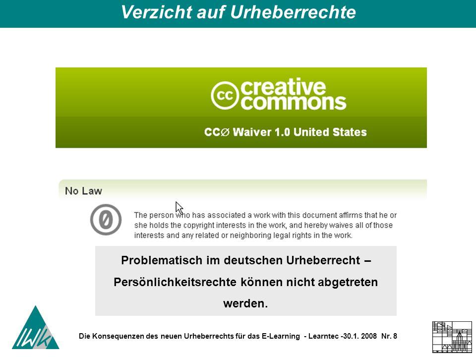 Die Konsequenzen des neuen Urheberrechts für das E-Learning - Learntec -30.1.