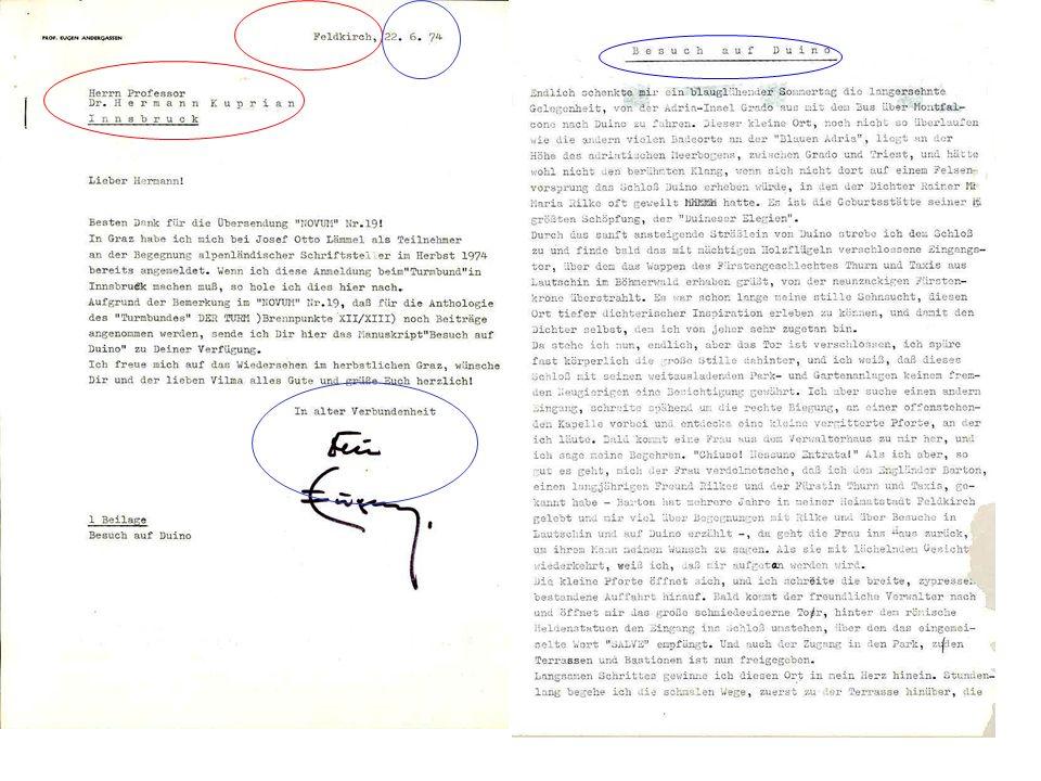PRAXISTEST/Beispiel 2/Katalogisate 100 Riccabona, Max [Verfasser] 100AAdrian, Marc [Adressat] 410 Yucatán 410nMX 425 11.04.1995 501 Auf Briefpapier des Hotel Los Aluxes .