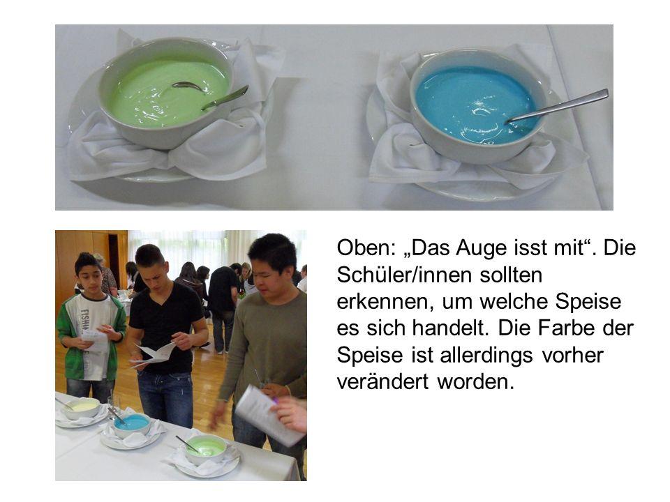 Die Veranstaltung wurde von den Student/innen des Studiengangs Ernährungspädagogik unter Leitung von Dipl.-Päd.