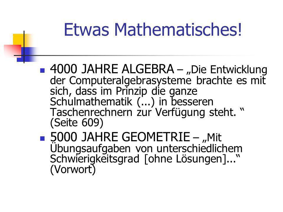 Etwas Mathematisches.