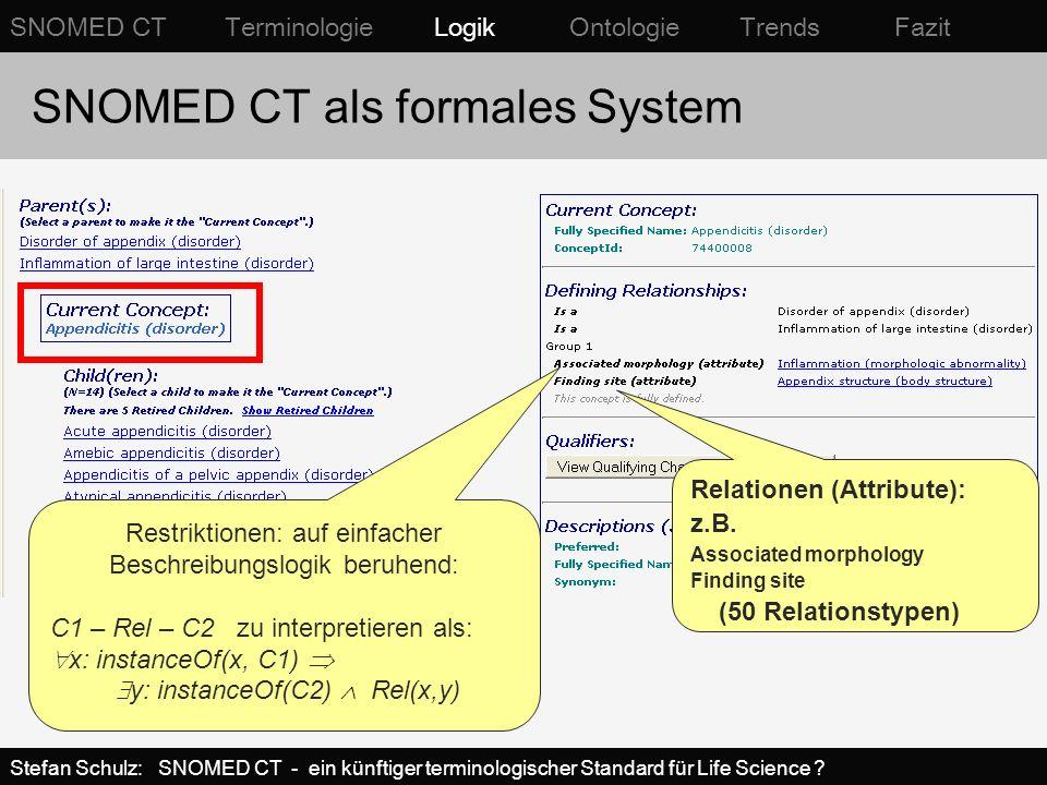 SNOMED CT als formales System definierte vs.