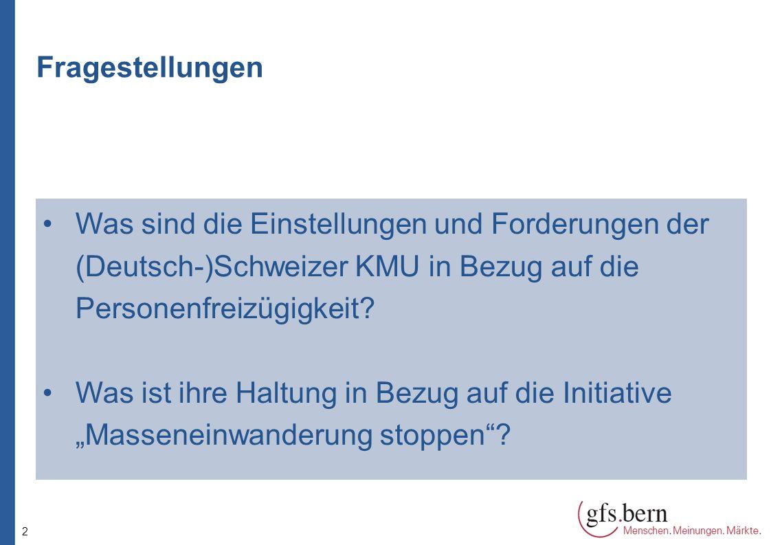 3 Datenbasis Grundgesamtheit:KMUs aus der Deutschschweiz Erhebungsart:computerunterstütze Telefoninterviews (CATI) Stichprobenbildung:Zufalls-Stichprobe Befragungszeitraum:09.