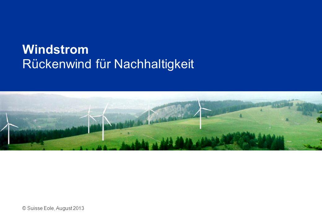 Windstrom Rückenwind für Nachhaltigkeit © Suisse Eole, August 2013