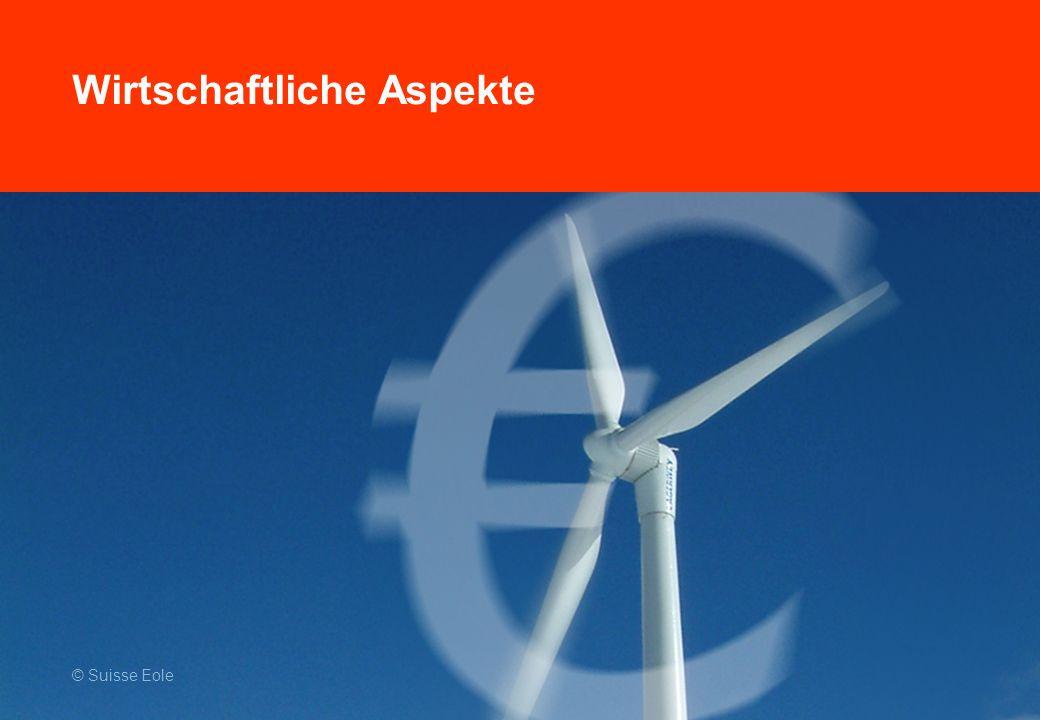Wirtschaftliche Aspekte © Suisse Eole