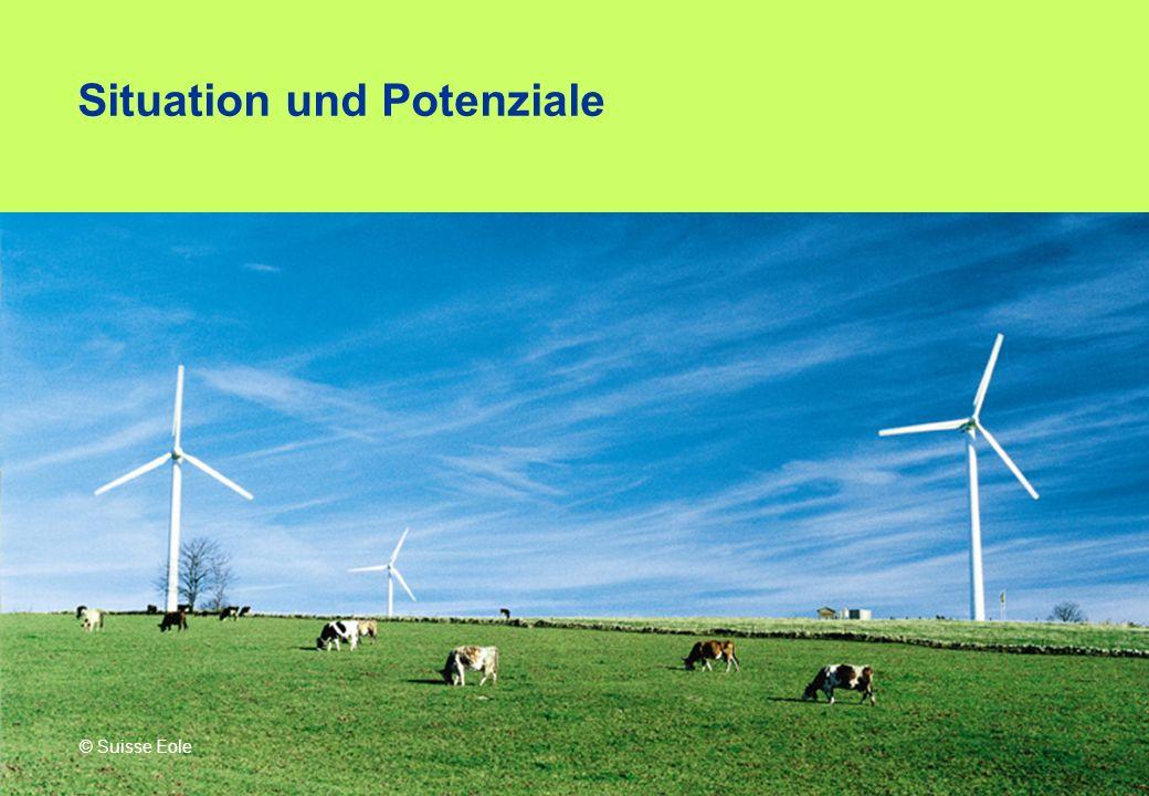 Situation und Potenziale © Suisse Eole