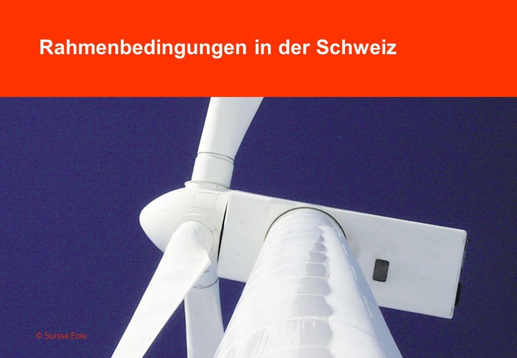 Rahmenbedingungen in der Schweiz © Suisse Eole