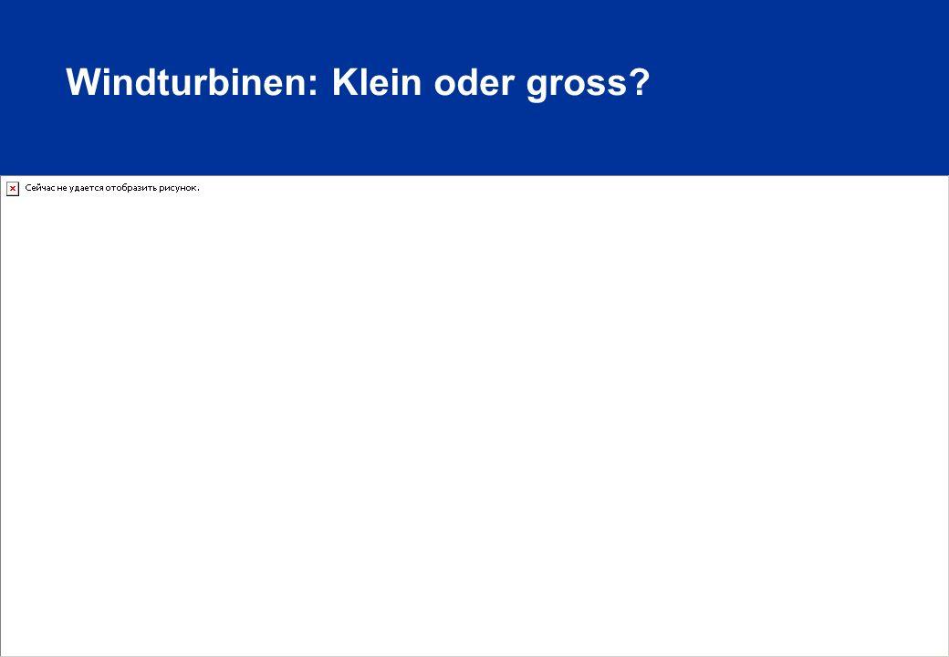 Windturbinen: Klein oder gross? © Suisse Eole
