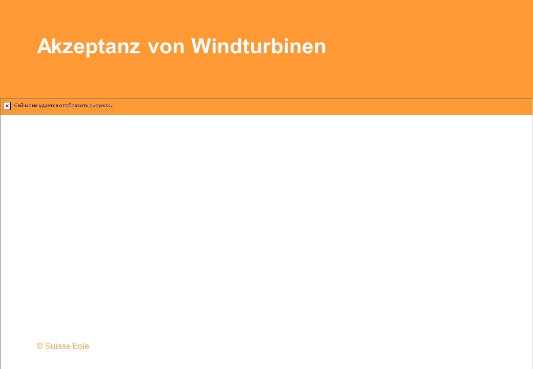 Akzeptanz von Windturbinen © Suisse Eole