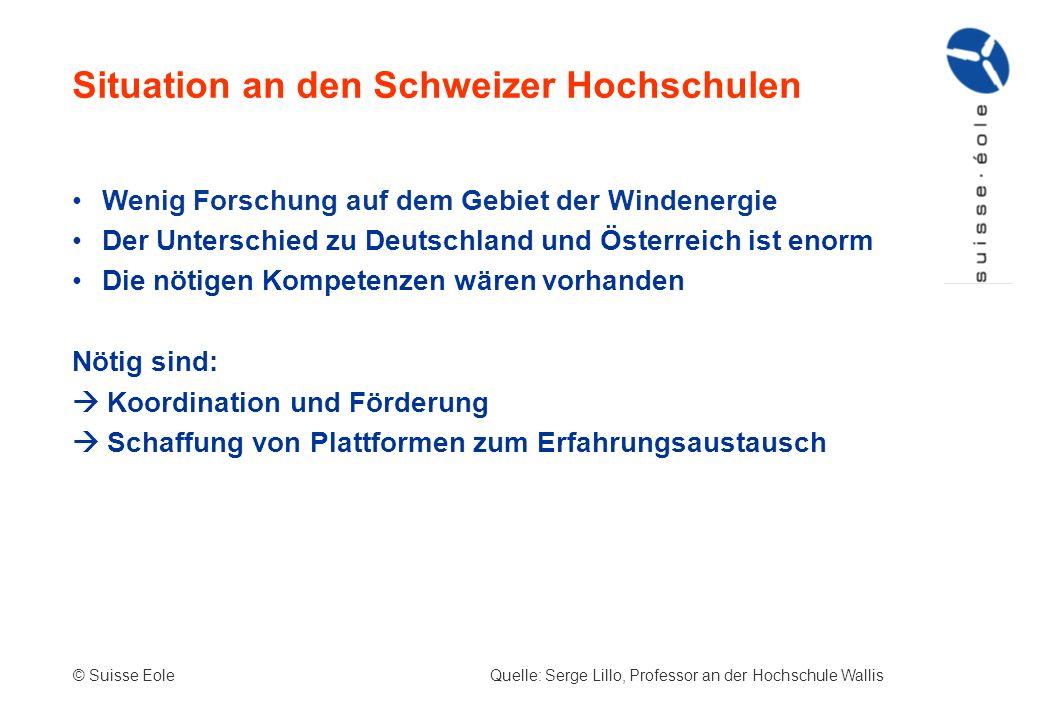 Wenig Forschung auf dem Gebiet der Windenergie Der Unterschied zu Deutschland und Österreich ist enorm Die nötigen Kompetenzen wären vorhanden Nötig s