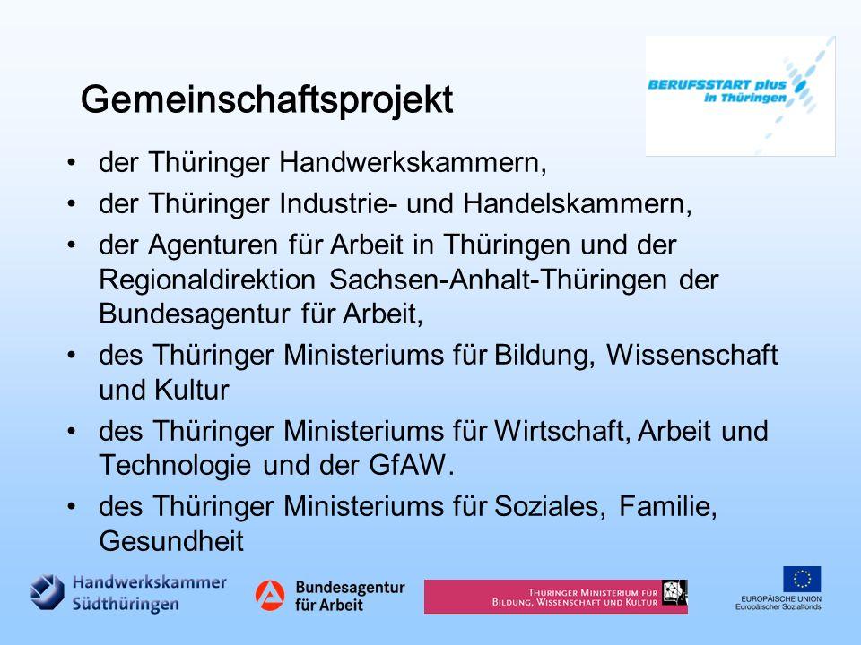 Beruf Q-Siegel BERUFSSTART und andere Projekte Berufswahlpass Schule Drei Säulen der Berufsorientierung in Thüringen