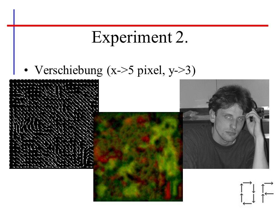 Experiment 2. Verschiebung (x->5 pixel, y->3)