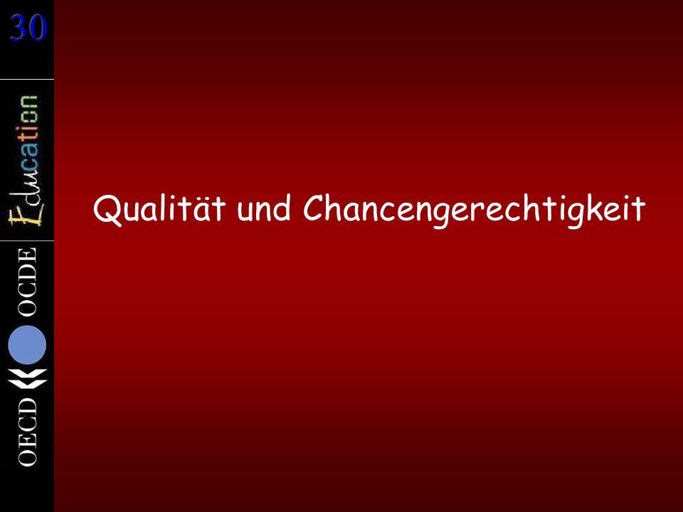 Qualität und Chancengerechtigkeit