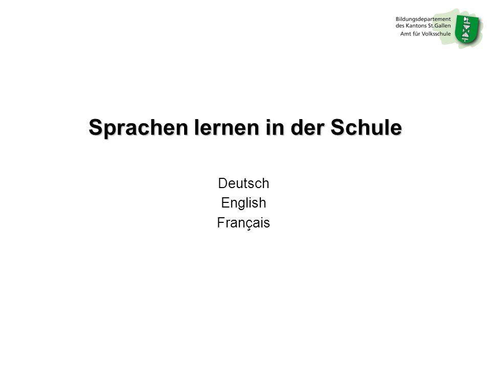 Sprachen lernen in der Schule Deutsch English Français