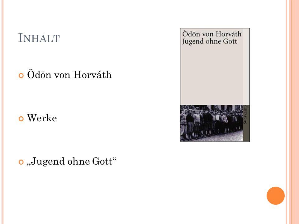 Ö DÖN VON H ORVÁTH geboren 9.