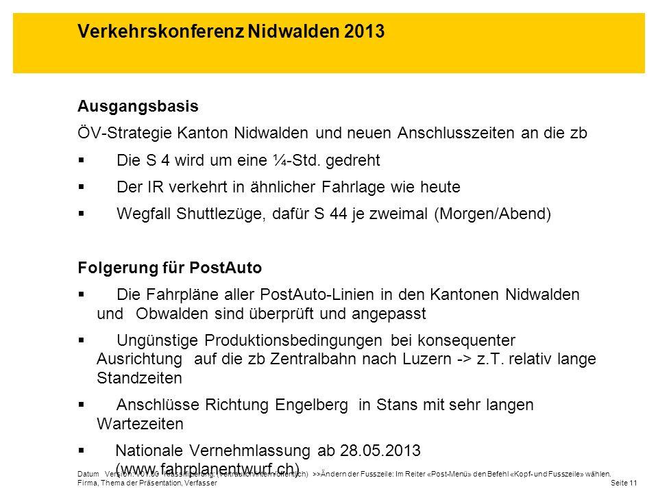 Datum Version: V01.00 Klassifizierung: (vertraulich/intern/öffentlich) >>Ändern der Fusszeile: Im Reiter «Post-Menü» den Befehl «Kopf- und Fusszeile»