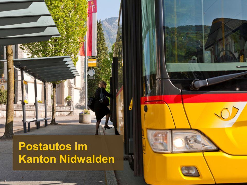 Postautos im Kanton Nidwalden