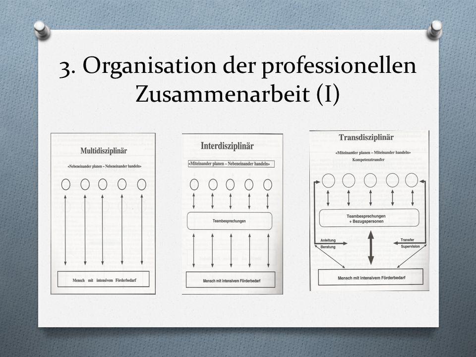 3. Organisation der professionellen Zusammenarbeit (I)