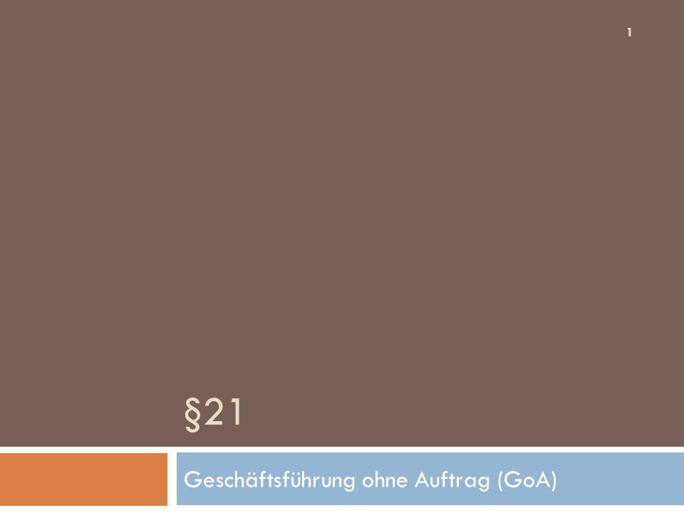 Ansprüche 42 Ansprüche des GHAnsprüche des GF Angemaßte Eigengeschäftsführung - SEA §§ 823ff.