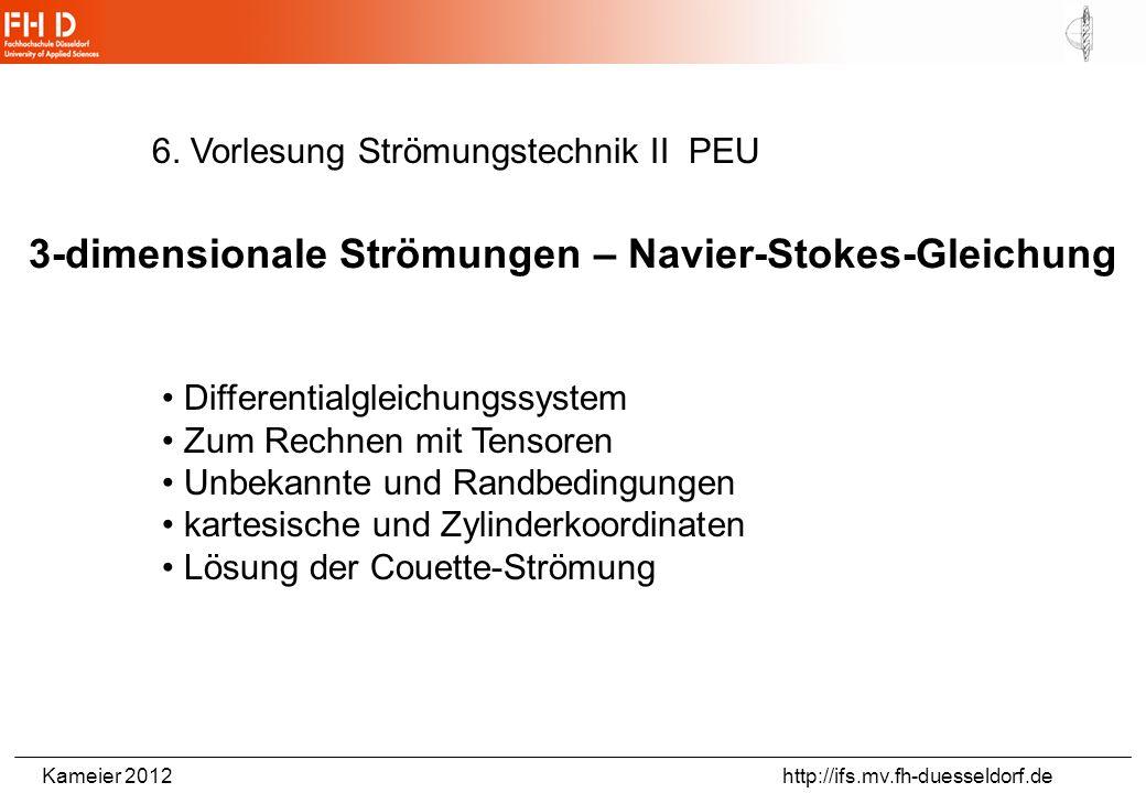 Kameier 2012 http://ifs.mv.fh-duesseldorf.de Ein- und Ausströmvorgänge (Beispiel: Atmen)