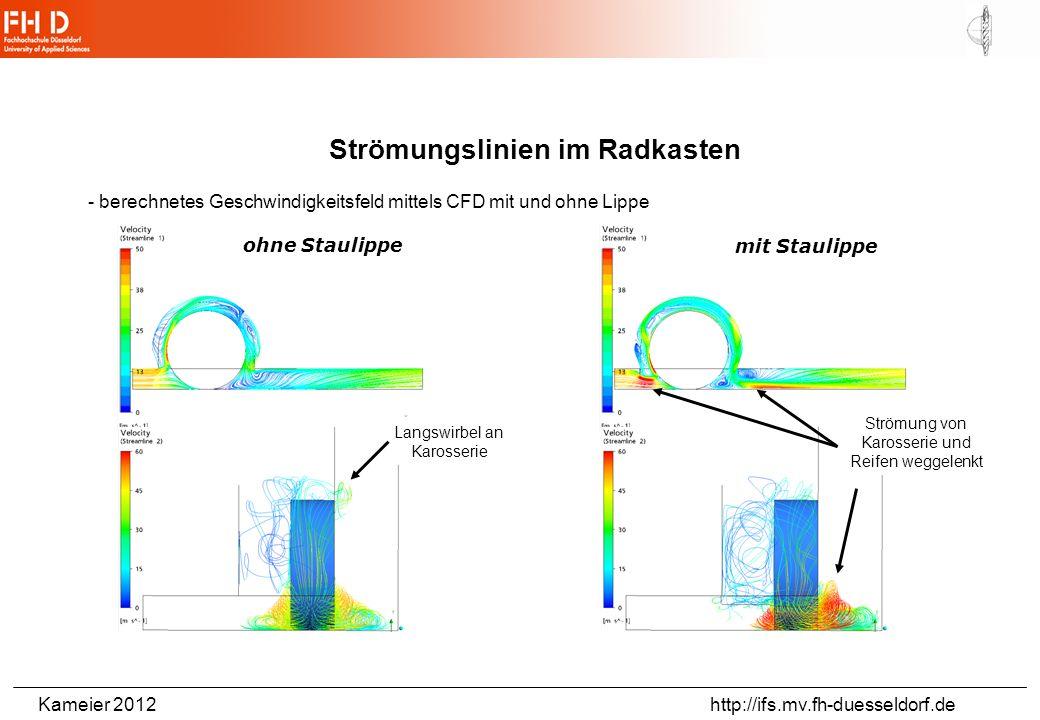 Kameier 2012 http://ifs.mv.fh-duesseldorf.de Gültigkeiten der Gleichungen: Navier-Stokes-Gleichung: - newtonsche Fluide -3-D-Strömungen -stationäre oder instationäre Strömungen -inkompressible Fluide -reibungsbehaftete (oder reibungsfreie, s.