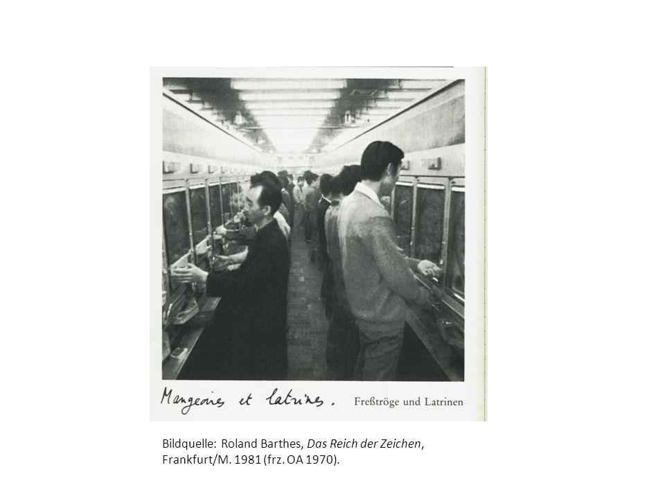 Bildquelle: Roland Barthes, Das Reich der Zeichen, Frankfurt/M. 1981 (frz. OA 1970).