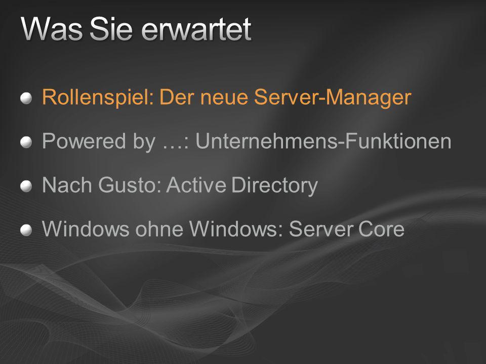 Server-Manager.Da war doch was ….