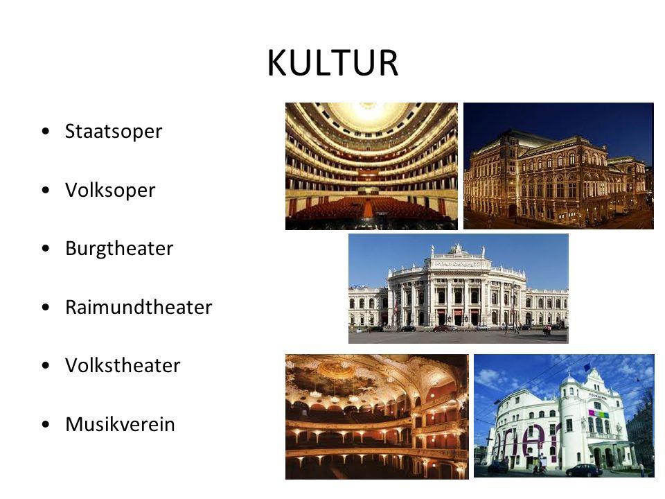 KULTUR Staatsoper Volksoper Burgtheater Raimundtheater Volkstheater Musikverein