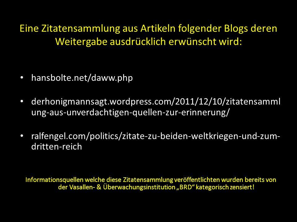 Mitteilung an einen Beauftragten des deutschen Widerstandes während des Krieges (vgl.