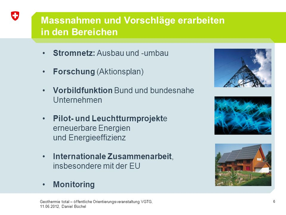 7 Etappierung Energiestrategie 2050 - 2020 1.Massnahmenpaket: EE Effizienz fossil / Importe Netze F&E / P&D ……..