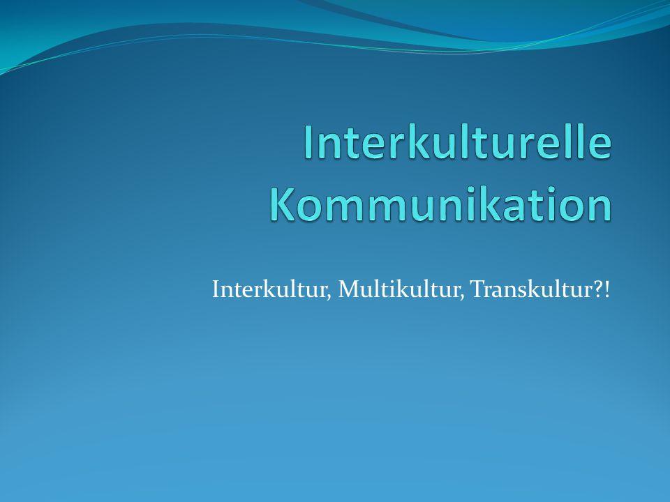 Interkultur, Multikultur, Transkultur?!