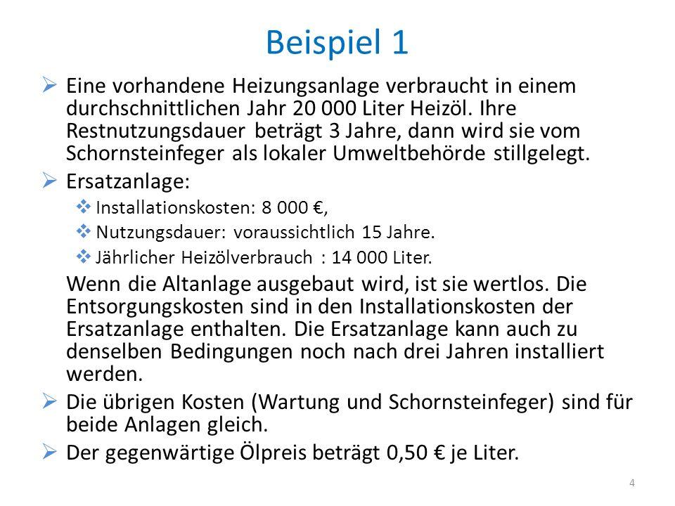 Idee der Kapitalwertmethode Dem Unternehmen fließen (z.B.