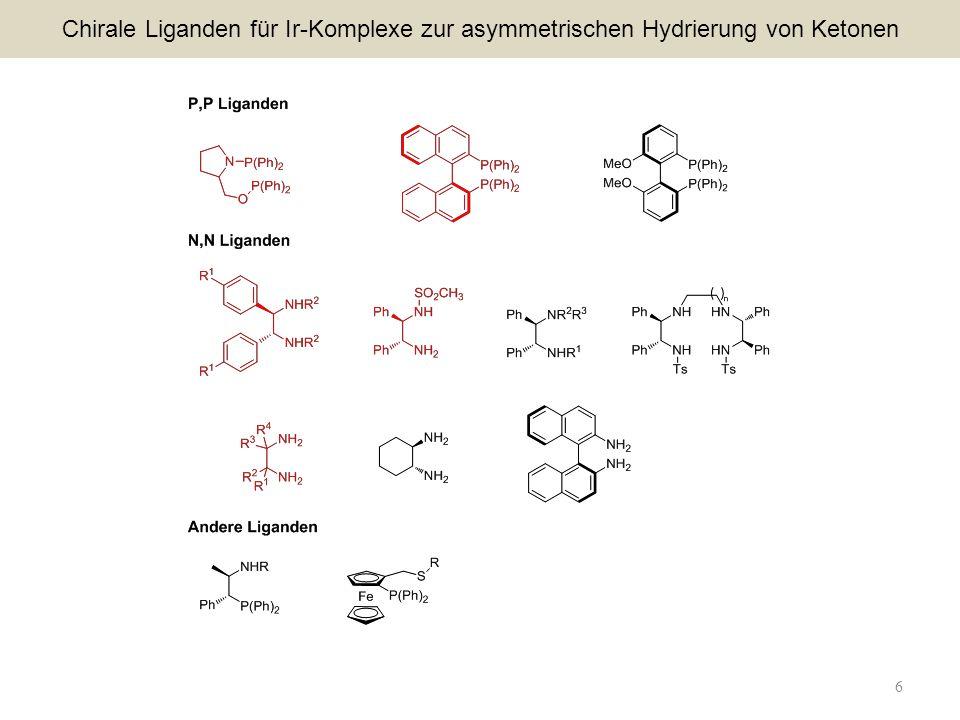 6 Chirale Liganden für Ir-Komplexe zur asymmetrischen Hydrierung von Ketonen