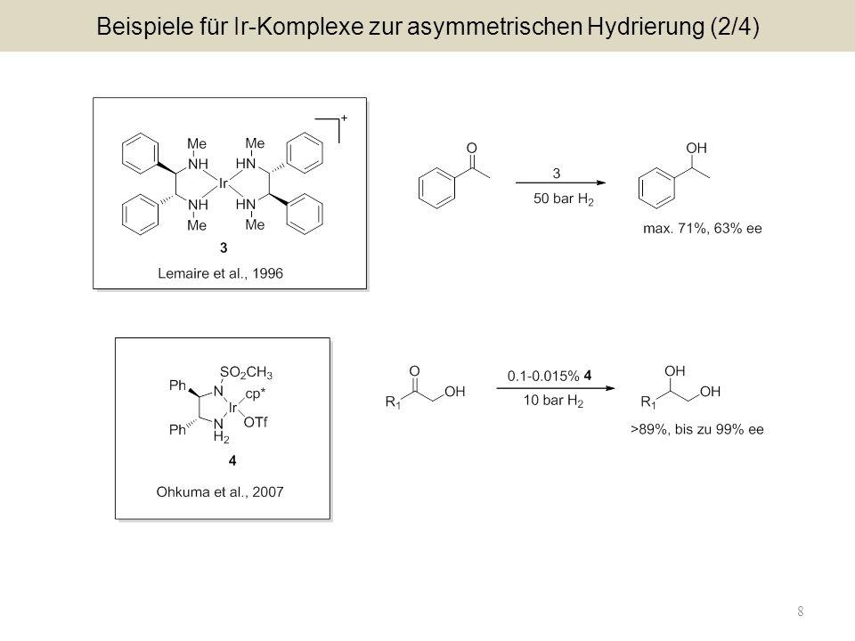8 Beispiele für Ir-Komplexe zur asymmetrischen Hydrierung (2/4)