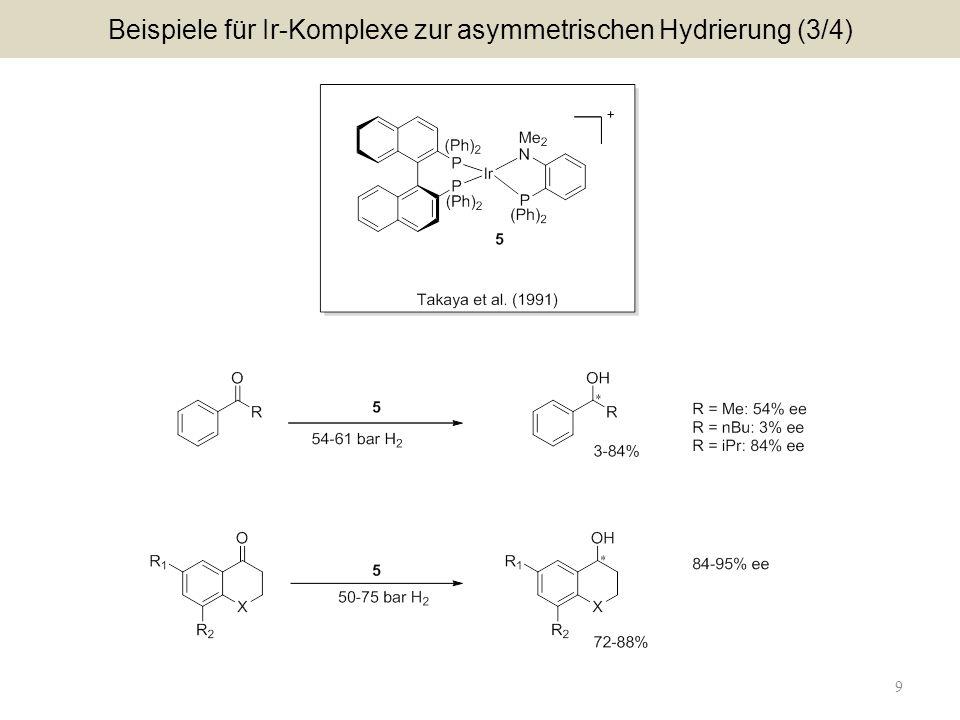 9 Beispiele für Ir-Komplexe zur asymmetrischen Hydrierung (3/4)