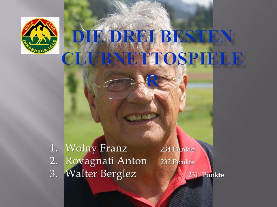 1.Wolny Franz 234 Punkte 2.Rovagnati Anton 232 Punkte 3.Walter Berglez 231 Punkte
