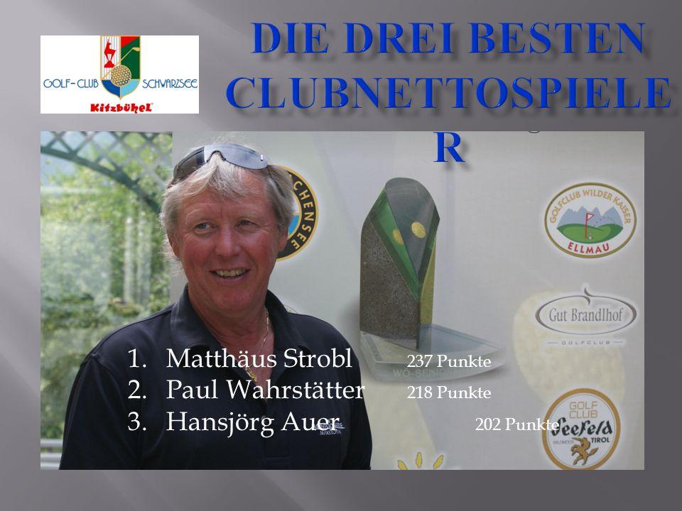 1.Matthäus Strobl 237 Punkte 2.Paul Wahrstätter 218 Punkte 3.Hansjörg Auer 202 Punkte