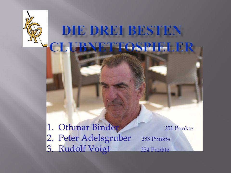 1.Othmar Binder 251 Punkte 2.Peter Adelsgruber 233 Punkte 3. Rudolf Voigt 224 Punkte
