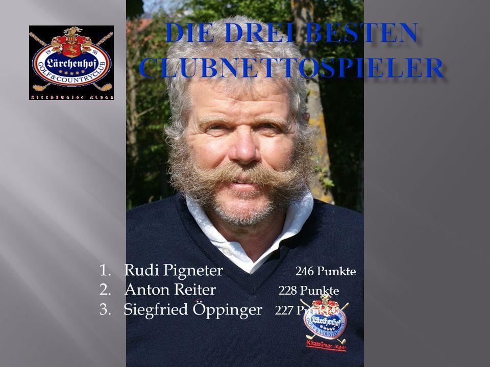 1.Rudi Pigneter 246 Punkte 2.Anton Reiter 228 Punkte 3.Siegfried Öppinger 227 Punkte