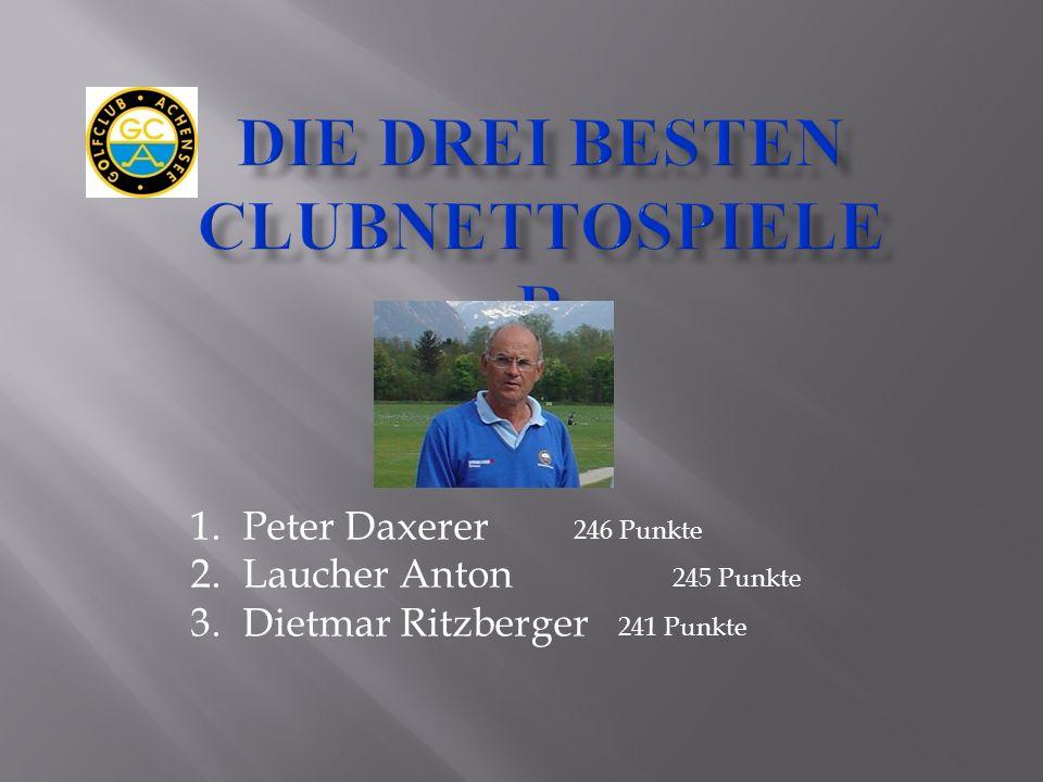 1.Peter Daxerer 246 Punkte 2.Laucher Anton 245 Punkte 3.Dietmar Ritzberger 241 Punkte