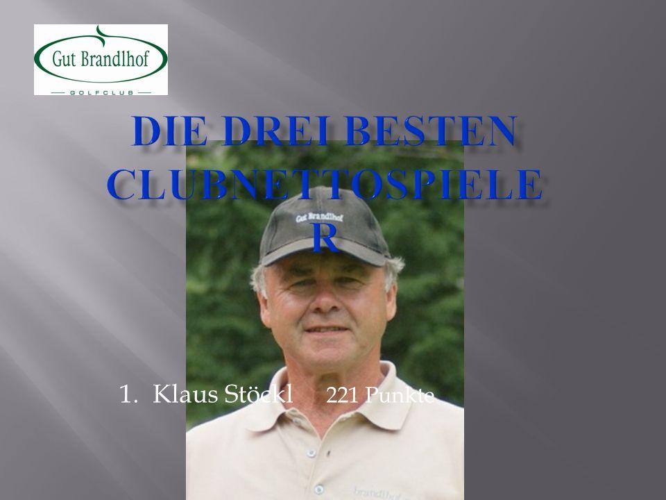 1.Klaus Stöckl 221 Punkte