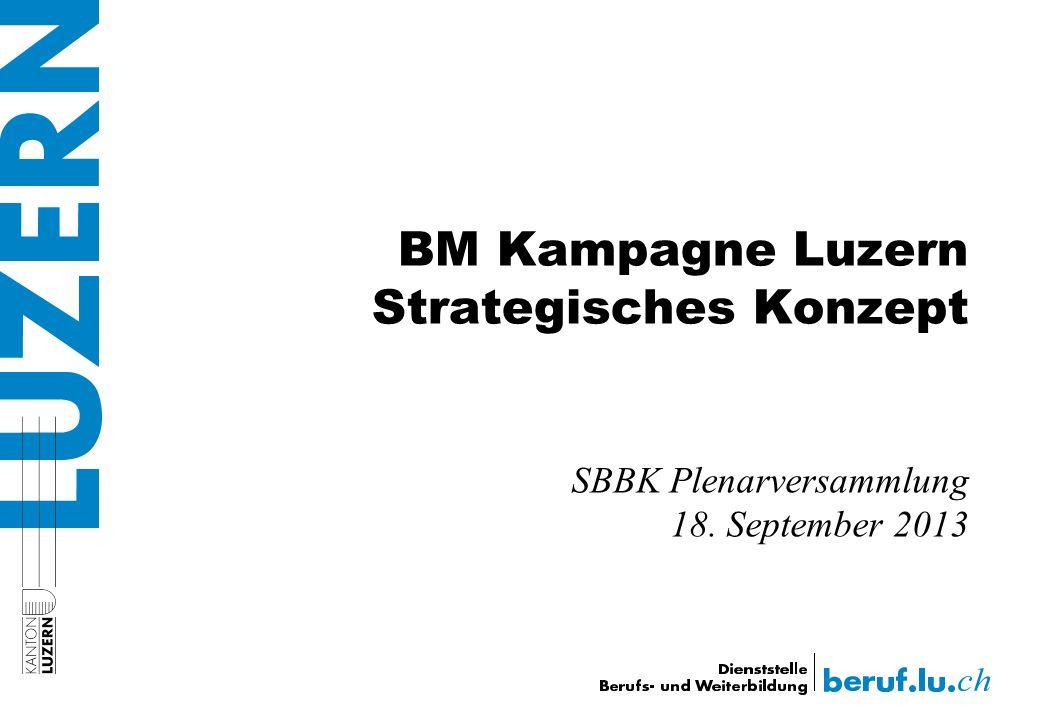 BM Kampagne Luzern Strategisches Konzept SBBK Plenarversammlung 18. September 2013
