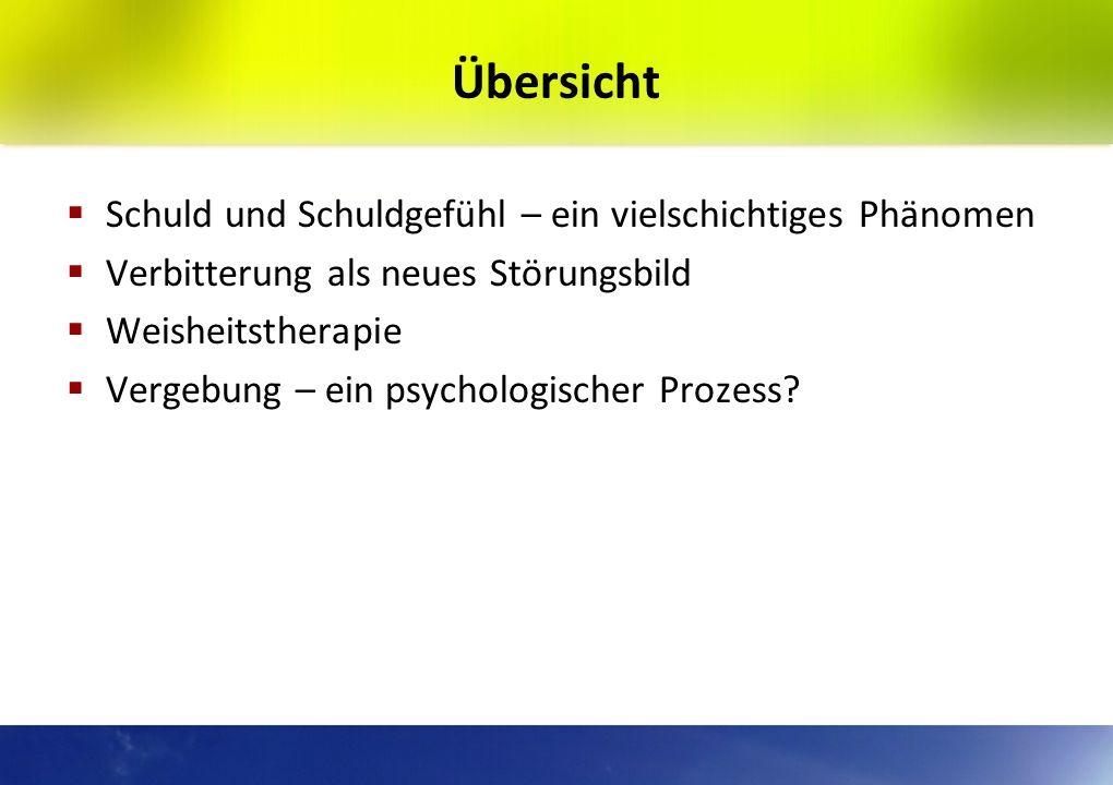 Schuld und Verbitterung, Vergebung und Versöhnung in der Psychiatrie und Psychotherapie Dr. med. Samuel Pfeifer Klinik Sonnenhalde Riehen / Schweiz