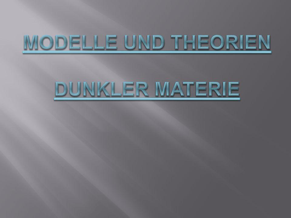 I. Das Standardmodell II. Baryonische DM III. Nicht-Baryonische DM
